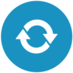 circle-arrows-icon-blue