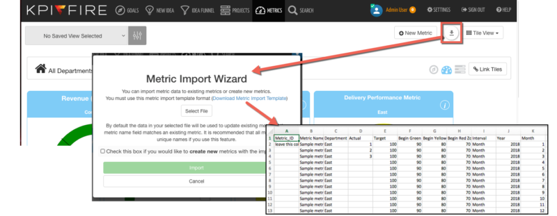 metric import template