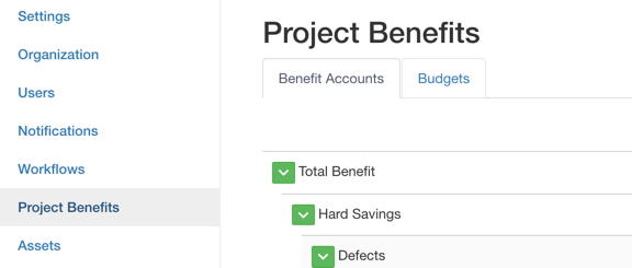 project benefit accounts